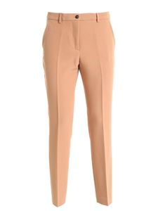Seventy - Slash side pockets pants in camel color