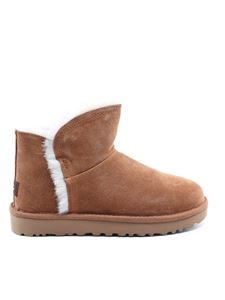 UGG - Classic Mini Fluff high-low ankle boots in brown