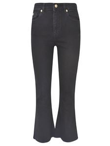 Versace Jeans Couture - Logo flared jeans in black