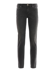 Versace Jeans Couture - Golden button faded jeans in grey