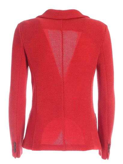 Circolo 1901 - Knitted fabric single-breasted jacket in red