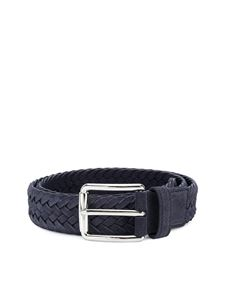 Tod's - Woven leather belt in blue