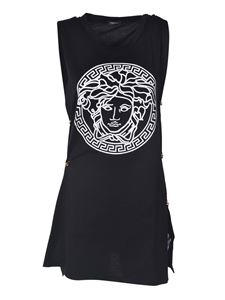 Versace - Medusa T-shirt in black with pins