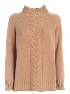 Kangra Cashmere - Tricot effect pullover in camel color