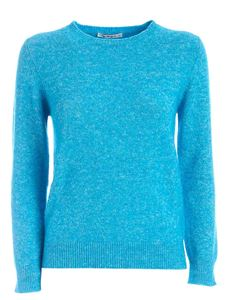 Kangra Cashmere - Crewneck pullover in turquoise