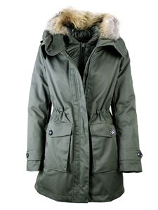 Woolrich - Padded jacket with hood in military green