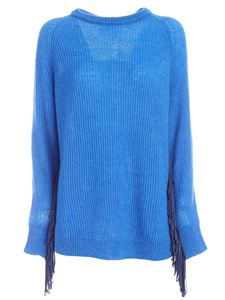 be Blumarine - Fringes pullover in blue