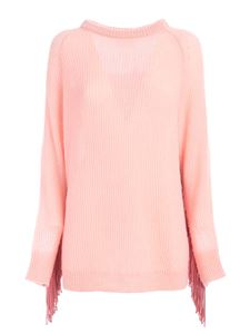 be Blumarine - Fringes pullover in pink