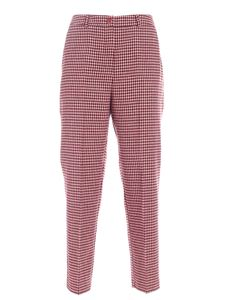 be Blumarine - Houndstooth pants in wine color