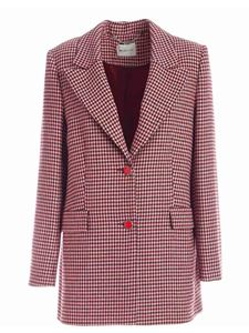be Blumarine - Houndstooth jacket single-breasted in wine color