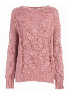 Dondup - Tricot effect pullover in antique pink