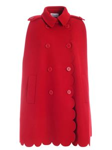 Red Valentino - Buttons cape in red