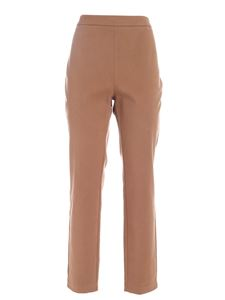 Ballantyne - Stretch cotton pants in camel color