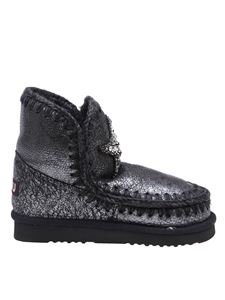 Mou - Eskimo 18 ankle boots in black and silver