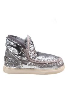 Mou - Eskimo Big Metallic Logo sneakers in silver color