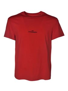 Maison Margiela - Red T-shirt with logo embroidery