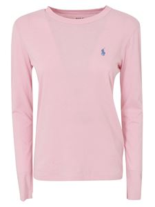 POLO Ralph Lauren - Logo long-sleeved T-shirt in pink