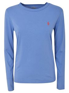 POLO Ralph Lauren - Logo long-sleeved T-shirt in light blue