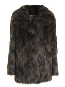 Diego M - Animal print synthetic fur in green