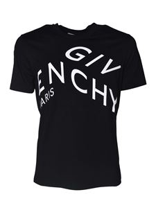 Givenchy - Black T-shirt with refracted logo