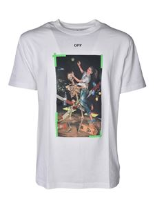 Off-White - Pascal T-shirt in white and green
