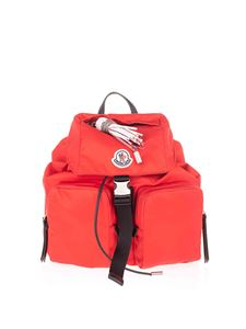 Moncler - Backpack with logo patch in red