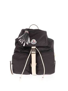 Moncler - Backpack with logo patch in black