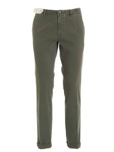 Incotex - Slacks Collection pants in Army green color