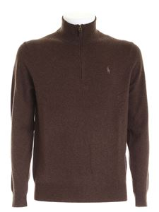 Ralph Lauren - Pullover a collo alto marrone