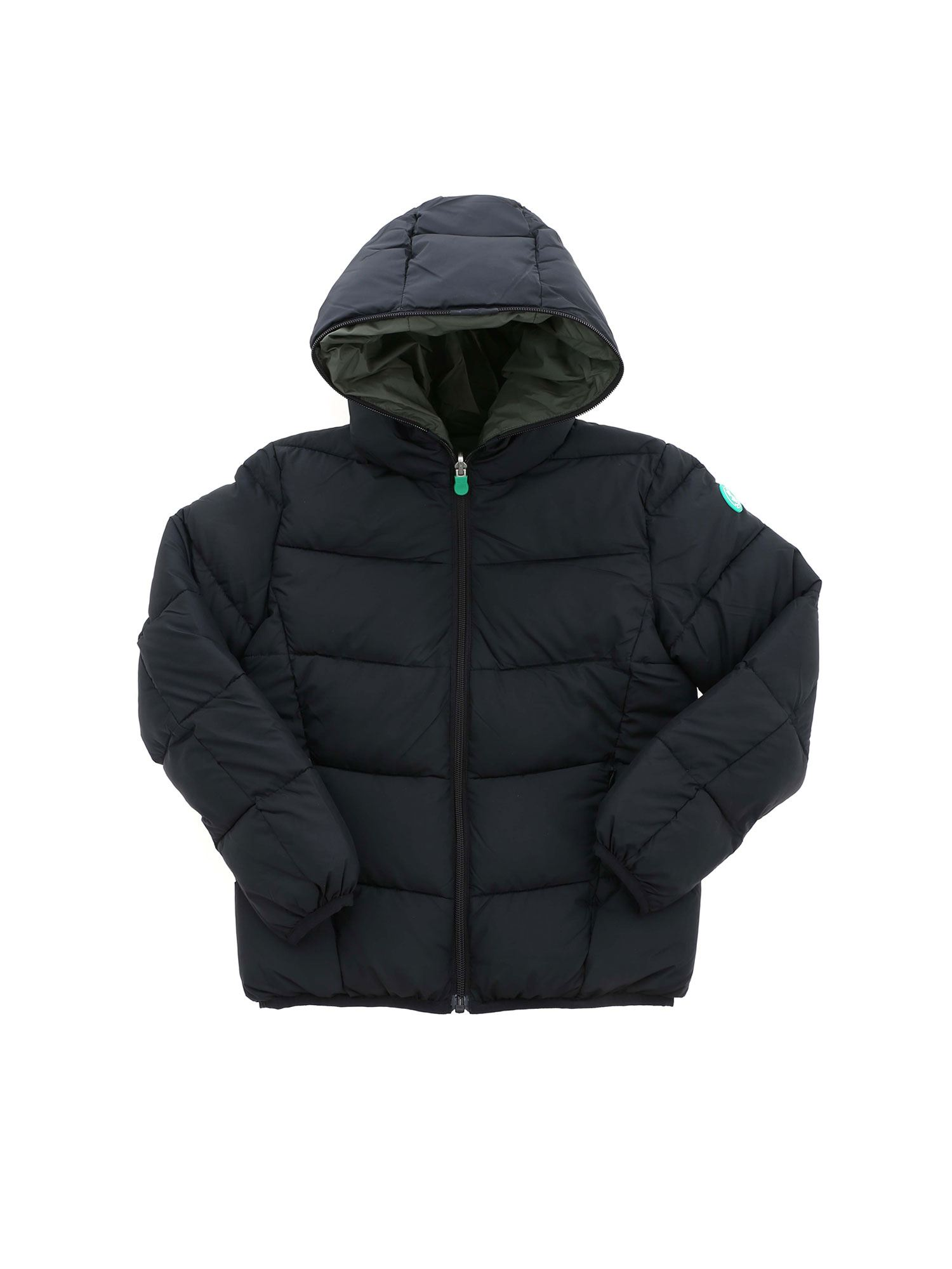 Save The Duck RECYCLED COLLECTION REVERSIBLE DOWN JACKET IN BLACK
