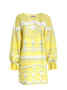 Moschino - Icing print dress in yellow