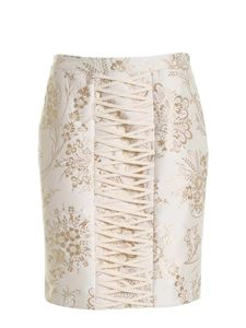 Moschino - Jacquard skirt in beige and ocher