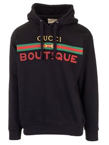 Gucci - Hoodie with Gucci Boutique print in black