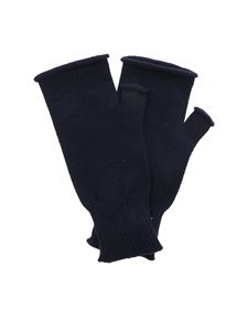 Maison Margiela - Wool and cashmere gloves in blue