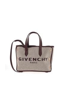 Givenchy - Bond Mini tote bag with logo in grey and aubergine color