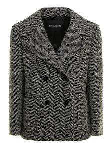 Ermanno Scervino - Polka dot herringbone jacket in black