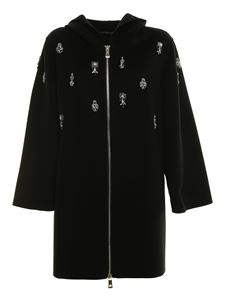 Ermanno Scervino - Crystal trim coat in black