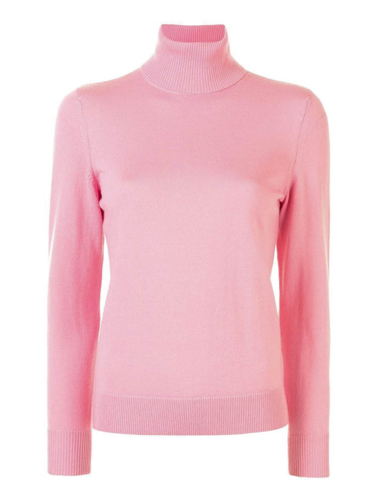 A.p.c. WOOL TURTLE NECK SWEATER IN PINK