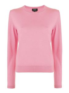 A.P.C. - Wool crew neck sweater in pink