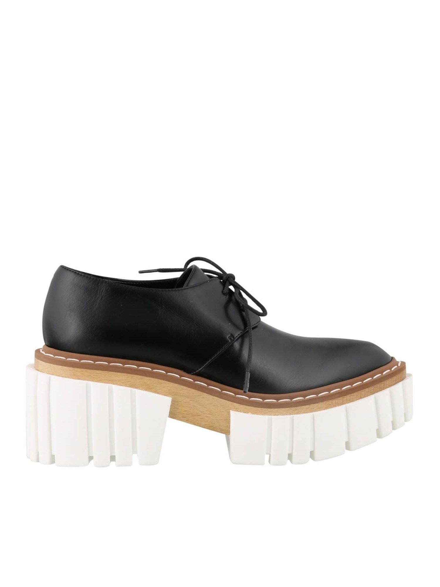 STELLA MCCARTNEY STELLA MCCARTNEY EMILIE LACE-UPS IN BLACK