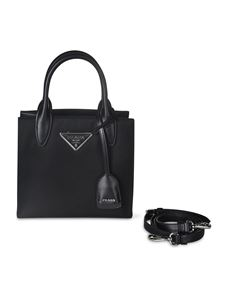 Prada - Triangle logo mini bag in black