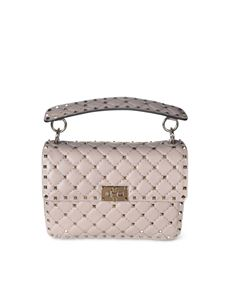 Valentino - Medium Rockstud Spike bag in pink