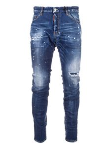Dsquared2 - Jeans Cool Guy con logo ricamato blu