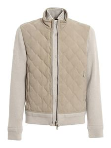 Ermenegildo Zegna - Cashmere and leather biker jacket in beige