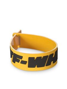 Off-White - Bracciale Industrial giallo e nero