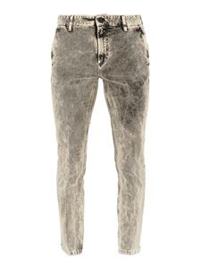 Department 5 - Jeans quattro tasche  in denim stretch grigio