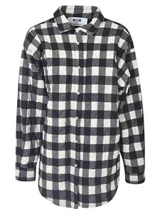 MSGM - Checked shirt in black and white