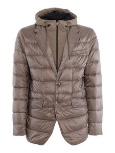 Herno - Removable double front padded jacket in beige