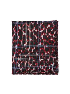 Saint Laurent - Bandana Leo print shawl multicolored