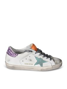 Golden Goose - Superstar Classic sneakers with pink glitter back